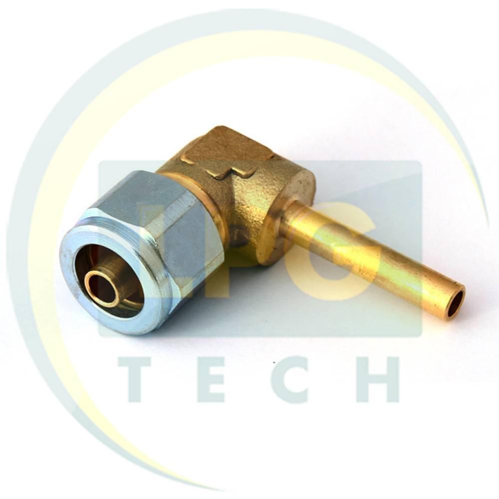 Штуцер соединительный угловой D6 для термопластиковой трубки FARO