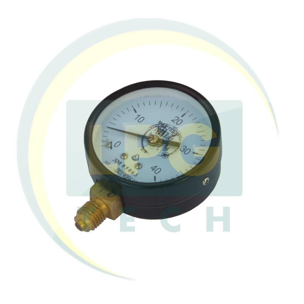 Манометр газовый автомобильный Стеклоприбор ДМ-05063, 0-40 МПА