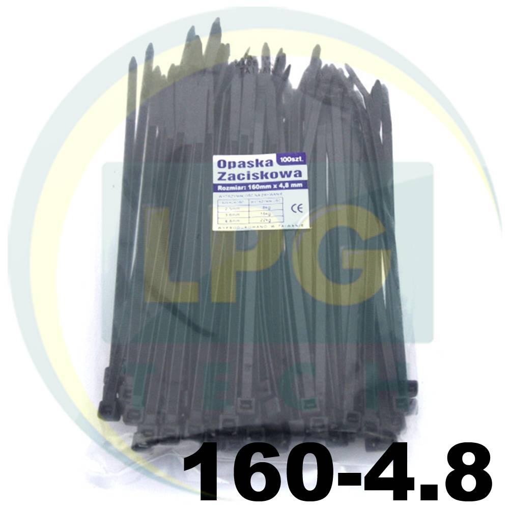 Кабельная стяжка 160х4,8 мм черная 100 штук